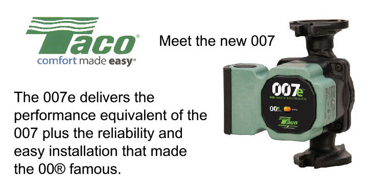The New 007e - High Efficiency Circulators Are Here!